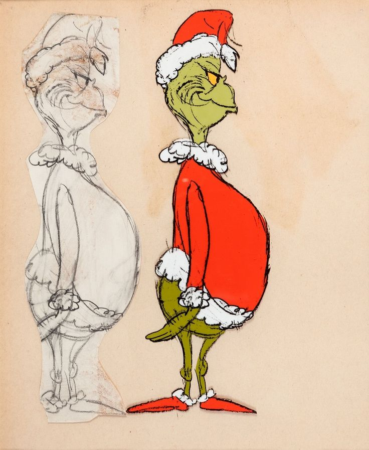 Image: Doctor Seuss' How the Grinch Stole Christmas Grinch Concept Art (MGM, 1966)
