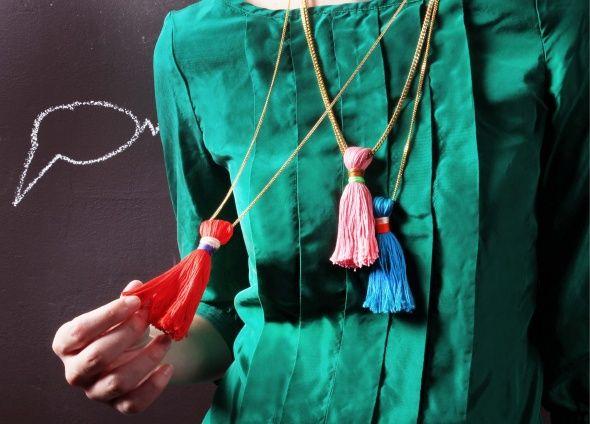 collares: Crafts Ideas, Holidays Tassels, Diy'S, Diy Tutorials, Diy Jewelry, Diy Tassl Necklaces, Diy Projects, Diy Tassels Necklaces, Jewelry Diy
