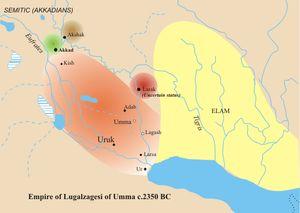 LUGALZAGESI foi um nobre SUMÉRIO de meados do século XXIV a.C. que atuou como governante da cidade de UMMA e mais tarde tornar-se-ia rei da SUMÉRIA com sede em sua capital em URUK. Foi o único membro da terceira dinastia de URUK e teria governado o país por 25 ou 34 anos (dependendo da interpretação da lista real suméria) antes de ser derrotado em batalha pelo rei SARGÃO I, que conquistou a SUMÉRIA e incorporou-a ao Império ACÁDIO.