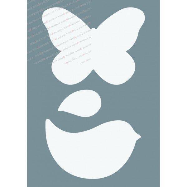 Pochoir oiseau papillon made for you bricolage for Pochoir oiseau