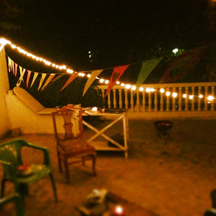 simple terrace bbq party decor diy photogriti