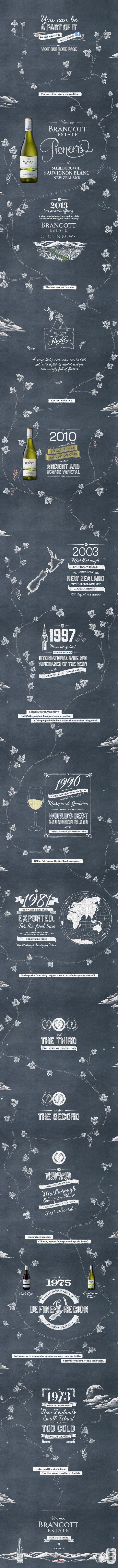 Unique Web Design, Brancott Estate Pioneers via @and1h #WebDesign #Design