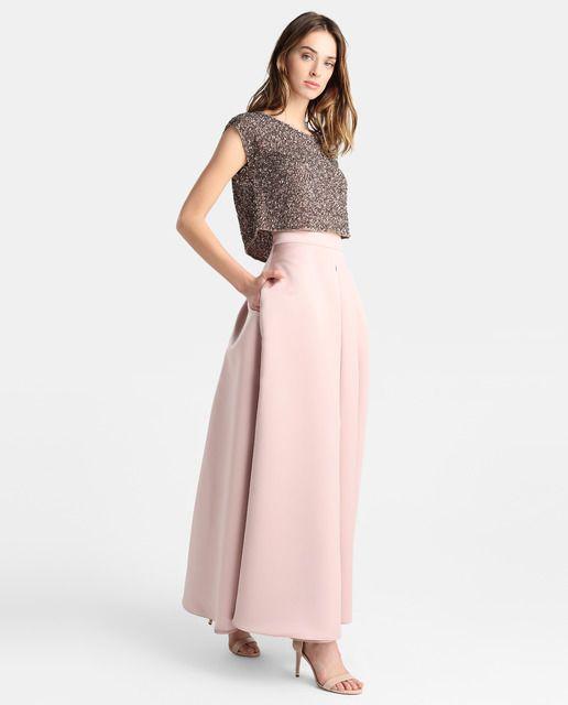 Falda larga de mujer Fiesta El Corte Inglés con tablas