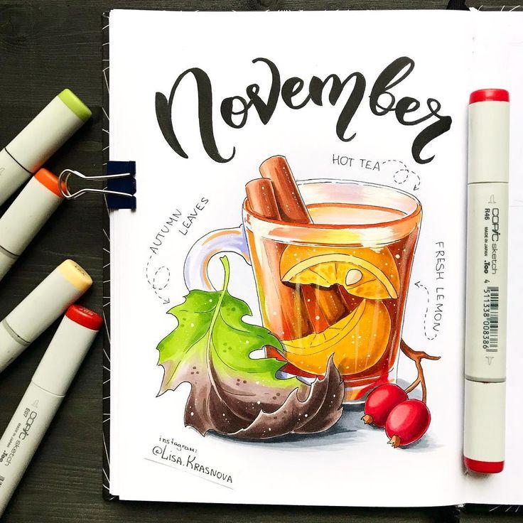 November  What's your favorite month of the year? На дворе промозглый ноябрь. Хорошо, что у меня home office и я могу работать, не вылезая на улицу, с чашечкой чая в руках. Мой любимый - с бергамотом, а ещё с мелиссой и мятой. А у вас?