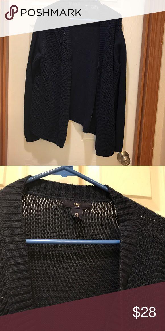 Gap navy waffle knit open front cardigan Gap waffle knit open front cardigan in navy GAP Sweaters Cardigans