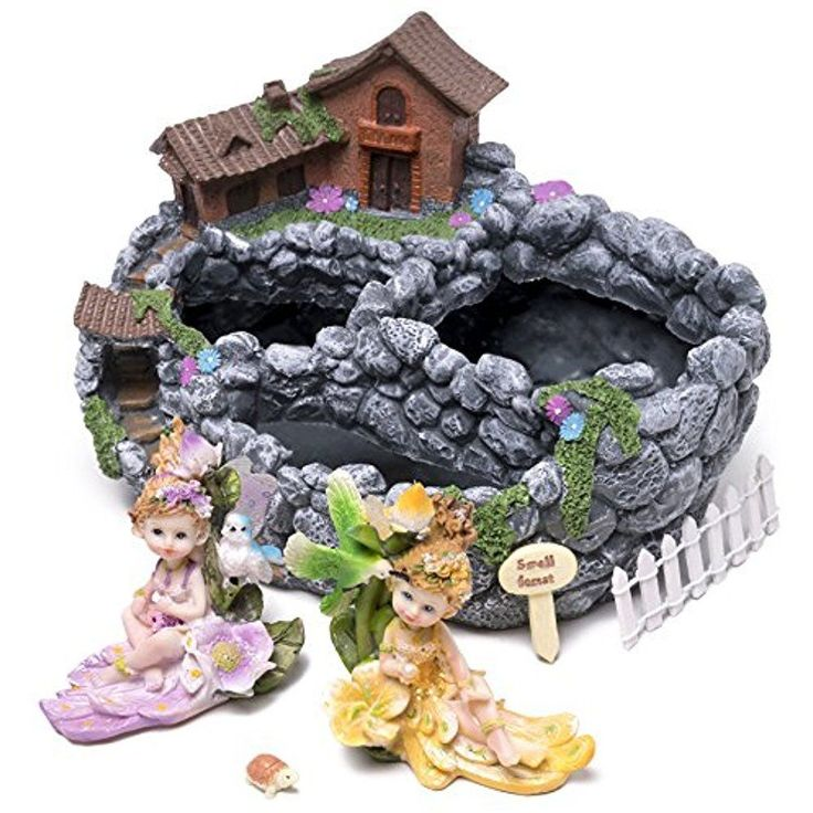 Fairy Garden Outdoor Statues House Planter Miniature Gardening Starter Set With #Doesnotapply