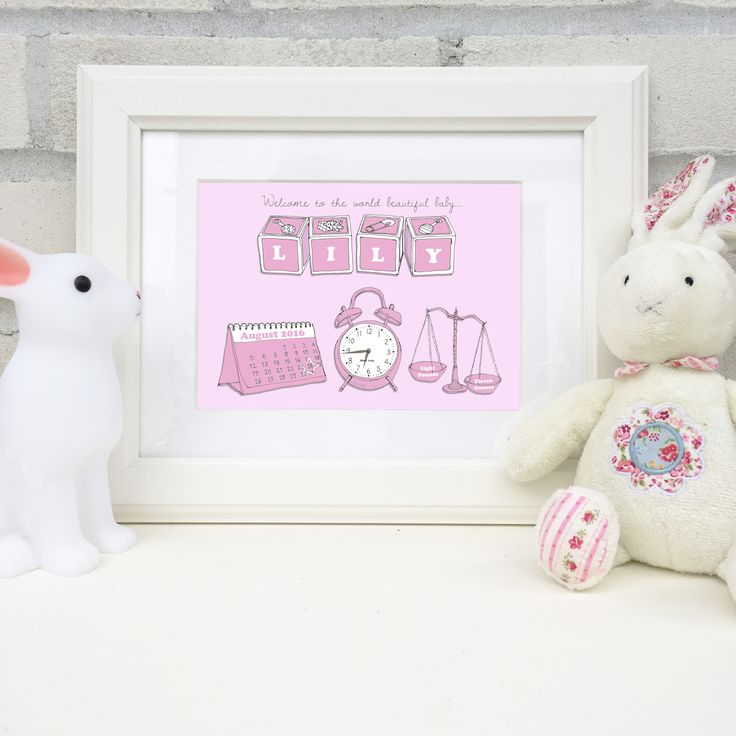 47 best personalised gifts images on pinterest personalised gifts personalised print to announce the delivery of a new baby hand drawn details featuring the babys name date of birth time of birth and weight negle
