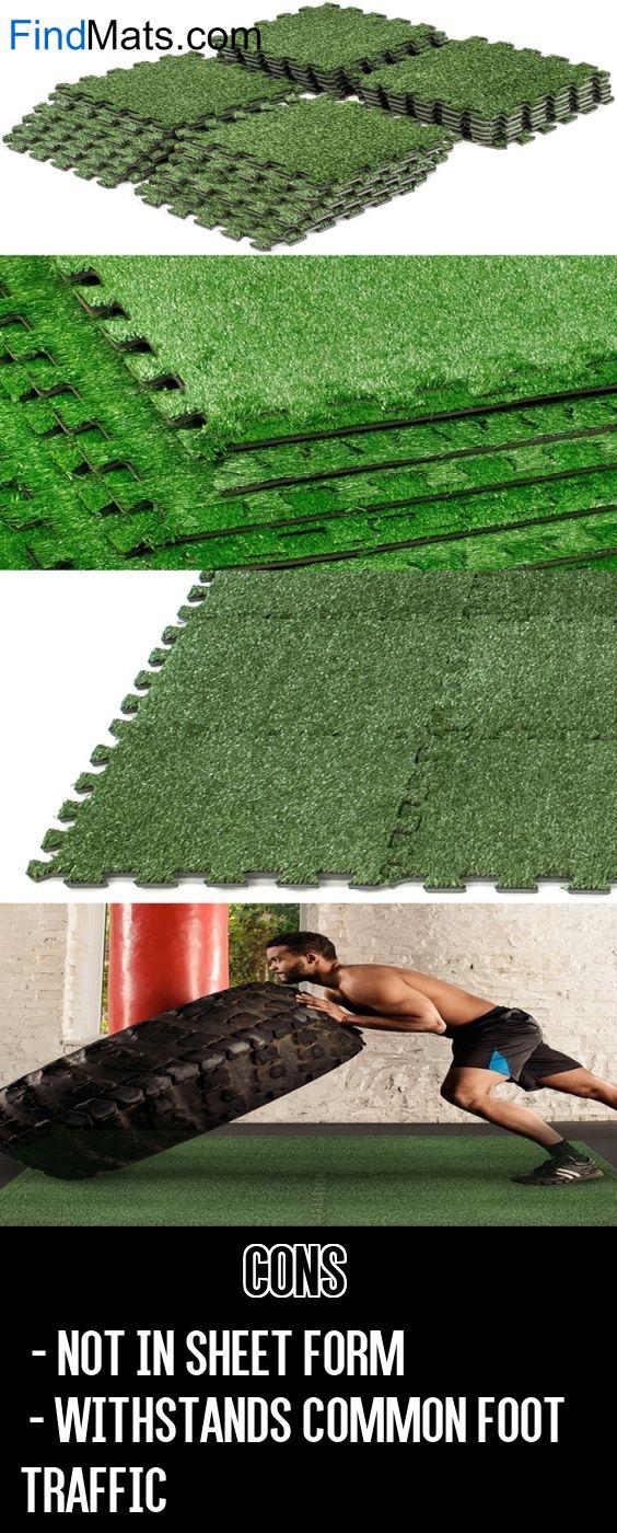 Sorbus Grass Outdoor Rubber Mat Interlocking Floor Tiles From FindMats.com
