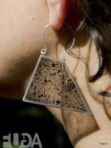 Silver earrings, resind and...