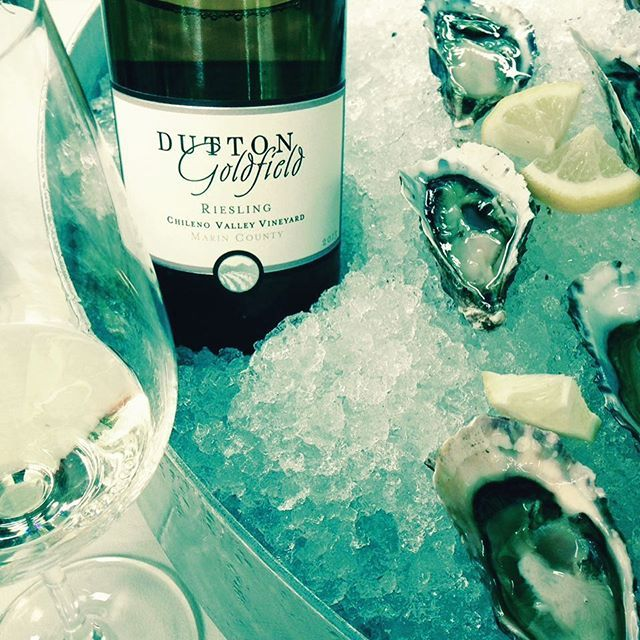 Happy first day of spring!! I can think of nothing better in the spring and summer time than a cold glass of our mouthwatering bone dry Riesling from #marincounty . A perfect match for oysters, sushi, salads and sunshine!! Get yours by visiting our tasting room or order online today before it's too hot to ship!! Www.duttongoldfield.com #riesling #oysters #wine #winelover #springwines #sebastopol #cheers
