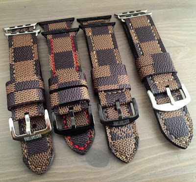 Kastantona Strap Maker: LOUIS VUITTON DAMIER FOR APPLE WATCH