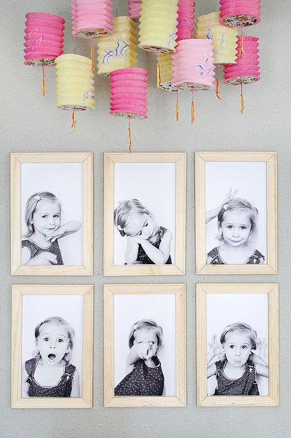 Haz una adorable composición con fotos de las muecas de tu hija!