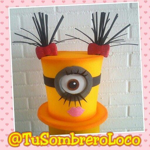 #Sombrero #Minions para niña #fiestasinfantiles #fiestastematicas #bodas…