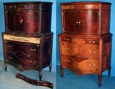 This is solid wood furniture There is NO PARTICLE BOARD