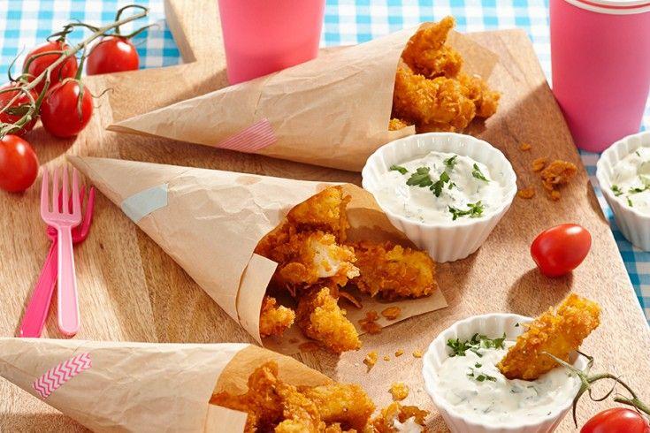 Gezond én heerlijk recept voor kids: visnuggets met peterseliedip - Culy.nl