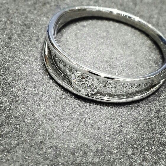 Africn - Diamonds - Platinum  Beautiful Tension Ring with a 0.35ct Diamond.  #diamonds #platinum #africn #africndiamonds