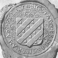 zegel ommelanden 1600 - 'Sig(illum) Stat(uum) Frisaie inter Amas(um) et Lav(icum)' → 'Het zegel van de Staten van Friesland tussen de Eems en de Lauwers'.