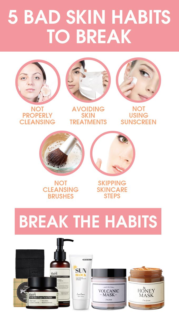 Having bad skin isn't fun and can make us feel insecure. Breaking these 5 bad skin habits can make a big difference for your skin so you can feel your best.