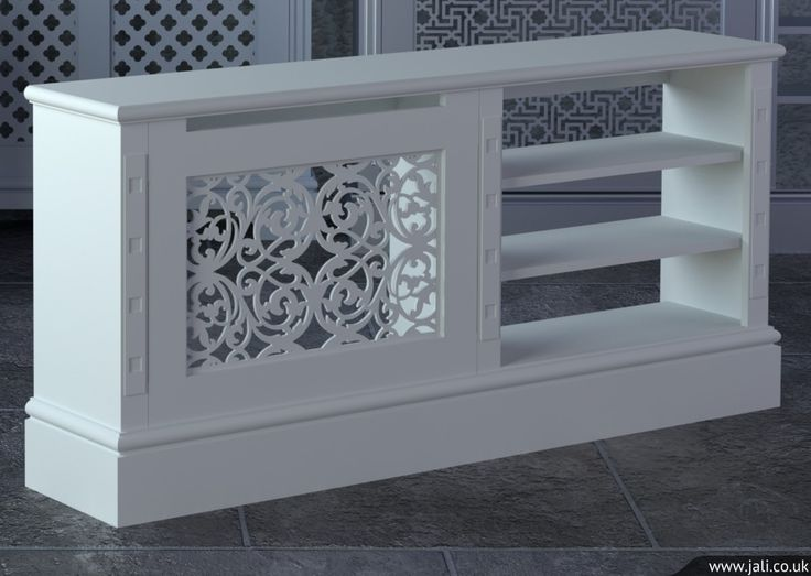 Jali bespoke radiator cover - something like this to cover radiator and accommodate TV