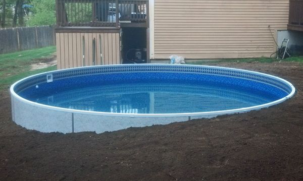 Radiant Pool 21 foot round installed into grade