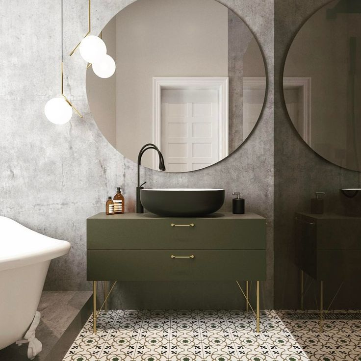 love this green vanity