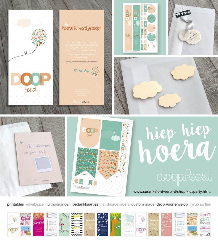 DOOPSEL   uitnodigingen, bedankkaartjes, (handmade) enveloppen, printables, handmade labels, stel je eigen pakket samen. Grafisch ontwerp, kaartjes, orange, green, oranje, groen,