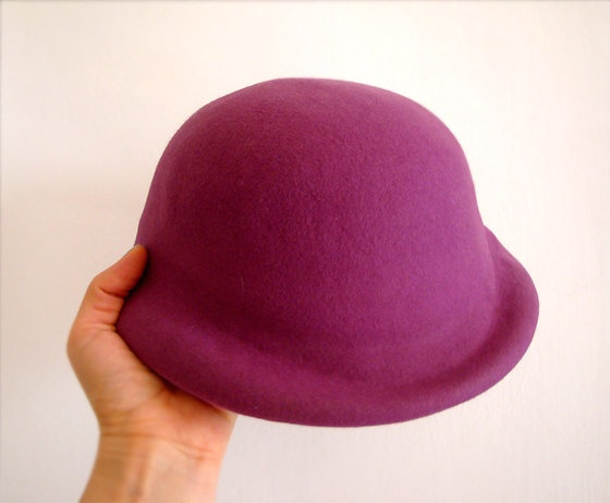 Autumn Trends - Felted Italian Hat Vintage Small Purple.. $35.00, via Etsy.