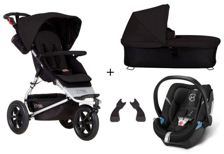 Mountain Buggy Urban Jungle 3-in-1 Set Kombi-Kinderwagen + Cybex Aton 4 Babyschale - online kaufen | myPram