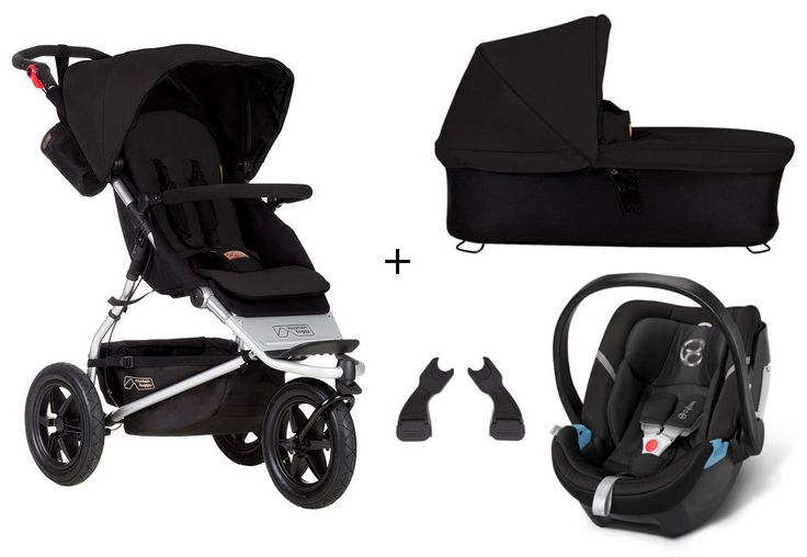 Mountain Buggy Urban Jungle 3-in-1 Set Kombi-Kinderwagen + Cybex Aton 4 Babyschale - online kaufen | myPram