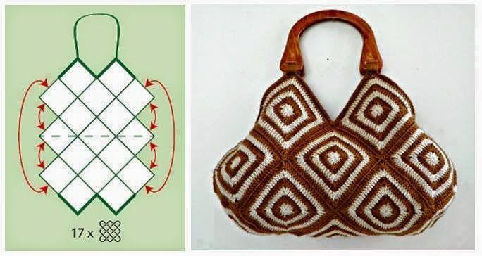 Con i gomitoli di Tommy...: Creare una borsa con le mattonelle all'uncinetto