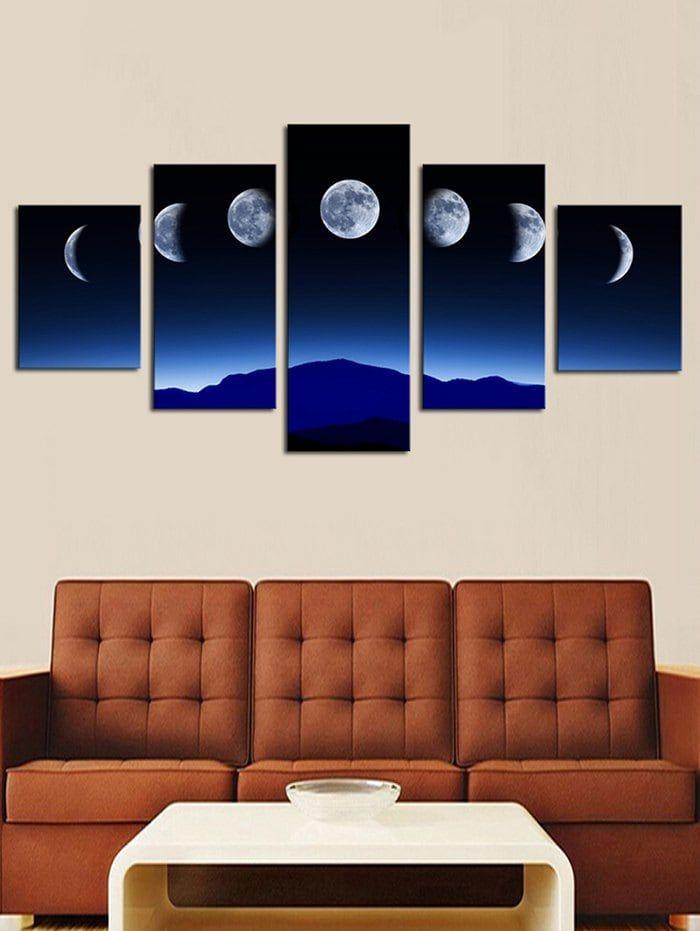 Lunar Eclipse Print Unframed Split Canvas Paintings Cheap Canvas Wall Art Canvas Wall Art Set Canvas Wall Art