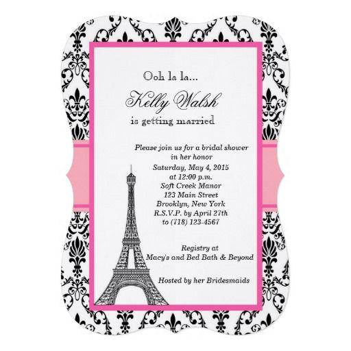 284 best images about paris wedding invitations on pinterest paris cards red bridal showers - Salon des seniors paris invitation ...