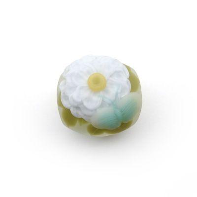 白牡丹 - obidome | 帯留