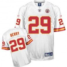 Chiefs #29 Eric Berry White With Draft Player Stitched NFL Jersey