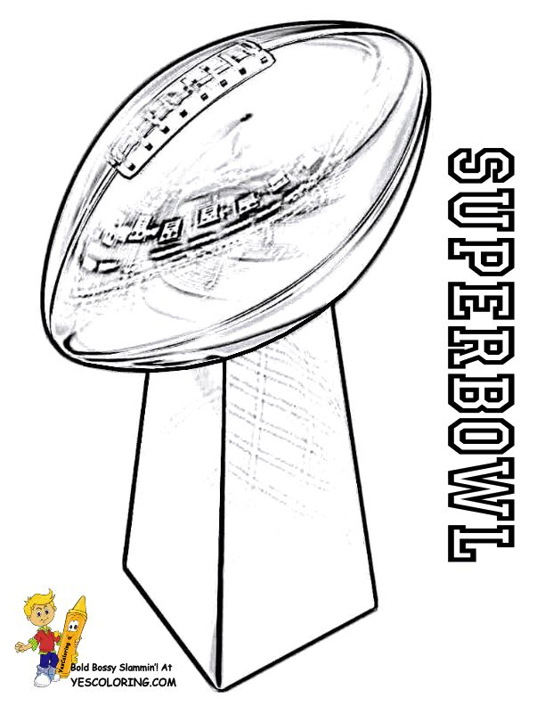 Coloring Superbowl Trophy at YesColoring