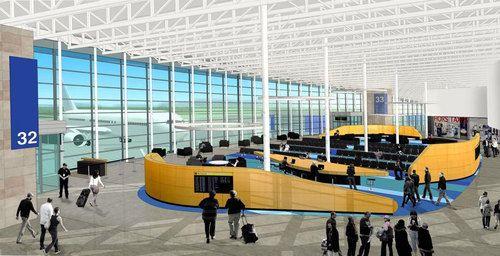 YQB 2018 : Agrandissement de l'Aéroport International Jean-Lesage de Québec, par Gagnon Letellier Cyr Ricard Mathieu Architectes, Québec. Image : Aéroport de Québec. Source : Aéroport de Québec.