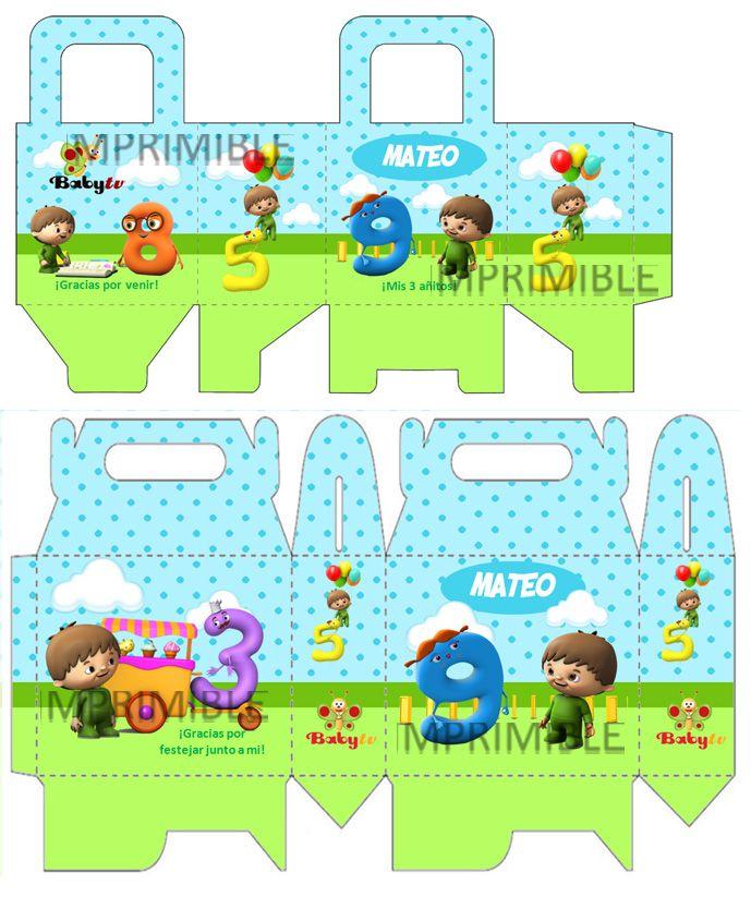 Kit Imprimible Baby Tv - Tarjetas - Cajitas - Y Mas - $ 39,99 en MercadoLibre
