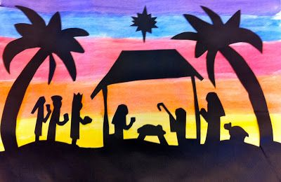 """Art: Expression of Imagination: """"Sunset Nativity"""" by Sixth Grade"""