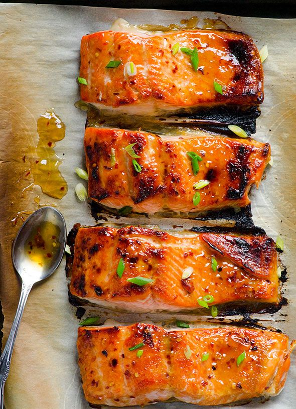 Clean Eating Thai Baked Salmon by ifoodreal #Salmon #Thai #Healthy
