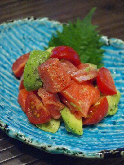 冬も美肌!アボカドトマトのサーモンあえ by Oriental Mamaさん ...