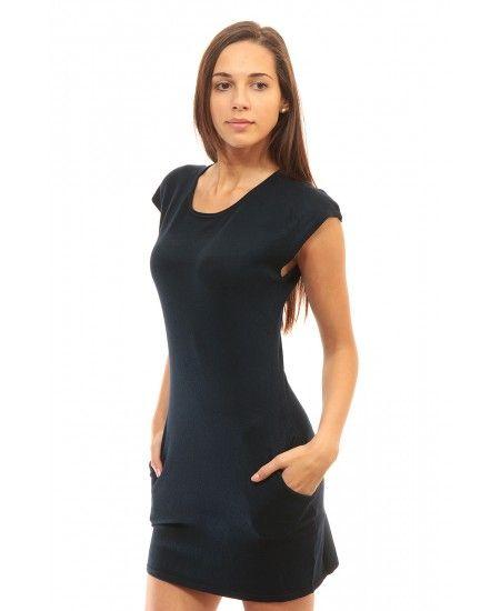 Дамска рокля тъмно синя Alexandra