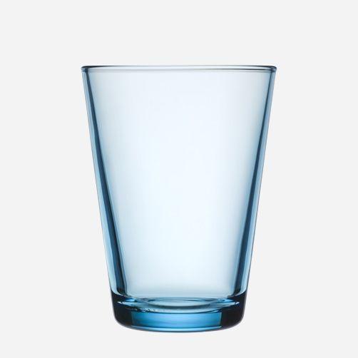 Iittala Kartio Glass Tumbler Large Light Blue Set of 2
