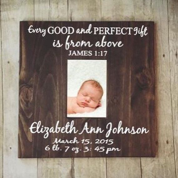 Personalized Baby Picture Frame-Custom Baby by TouchesofCreations