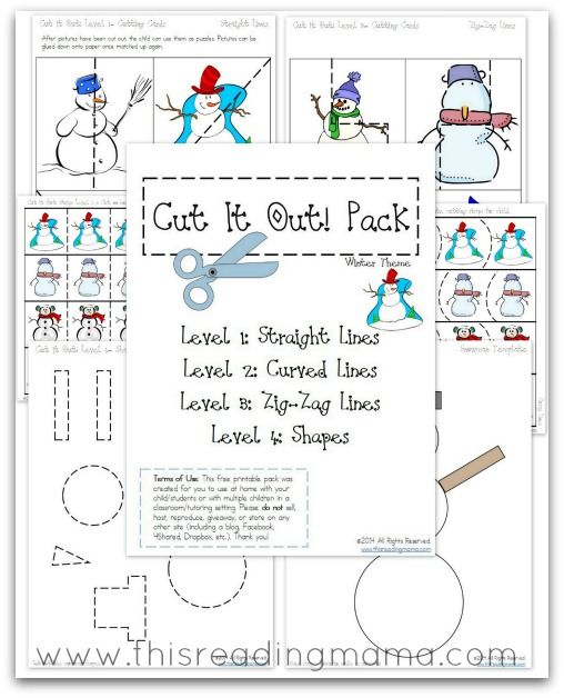 FREE Cutting Practice Pack {Winter Cut it Out!}