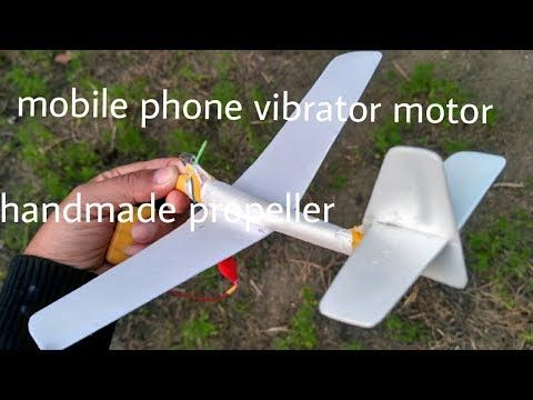 Homemade micro rc plane 2mm motor 18mm propellor  (India