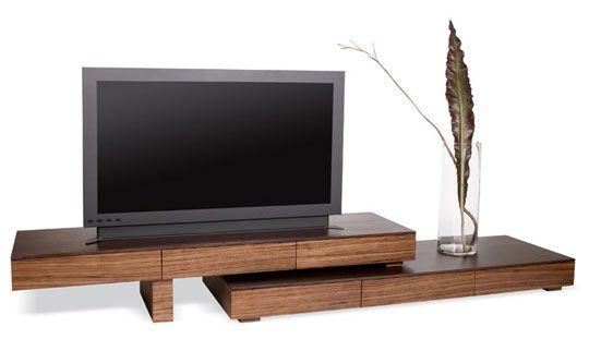 Zebra Wood Anguilla Modern TV Stand