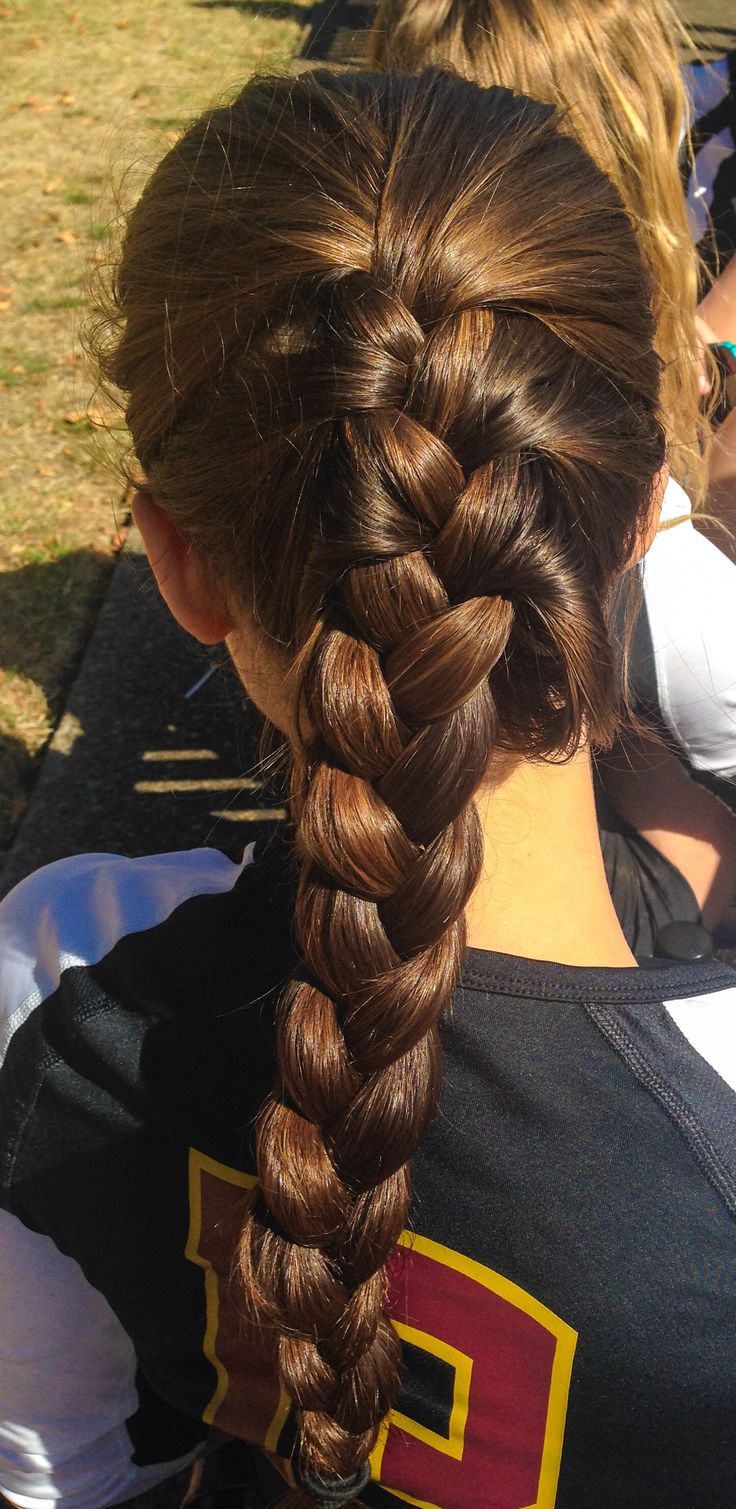 Cute volleyball hairstyles.