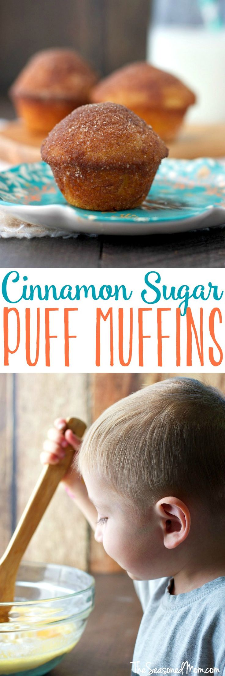 A touch of nutmeg and a cinnamon-sugar coating make these Cinnamon Sugar Puff Muffins the perfect cross between a doughnut and a muffin -- a great make-ahead breakfast or snack! #KingArthurFlour @KingArthurFlour #ad