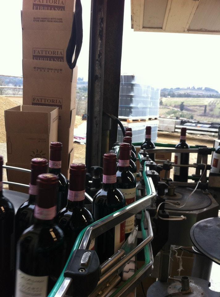 production line @ fattoria-fibbiano