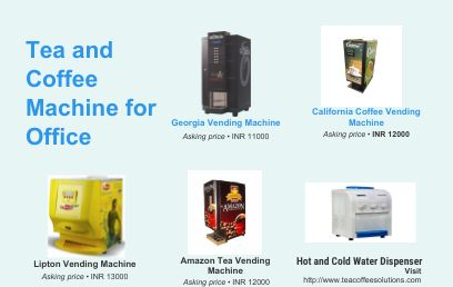 Tea and coffee vending Machines for Office Use | Coffee ...